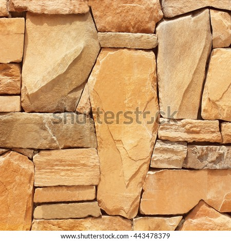 modern slab ,slate stone wall background. stone wall texture and background #443478379