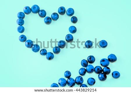 Blueberry - heart shape, fresh colors #443829214
