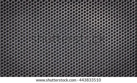 metal grid wicker texture