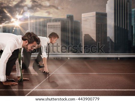 Business competition Royalty-Free Stock Photo #443900779