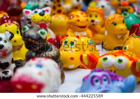 Bright handmade figurines #444225589