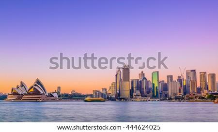 Sydney City Skyline at sunrise