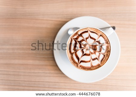 coffee on wood background #444676078