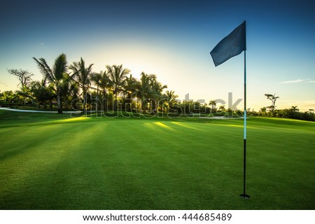Golf course in the countryside #444685489