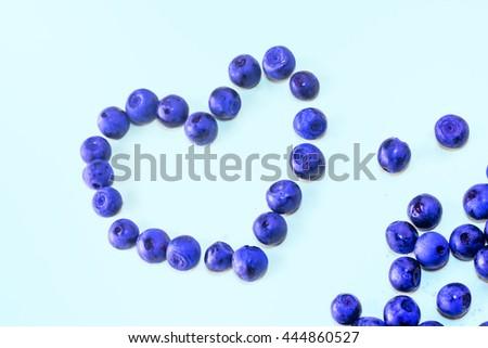 Blueberry - heart shape, fresh colors #444860527