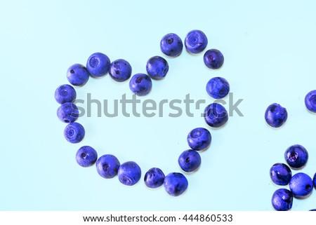 Blueberry - heart shape, fresh colors #444860533