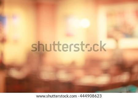 Blurred restaurant background. #444908623