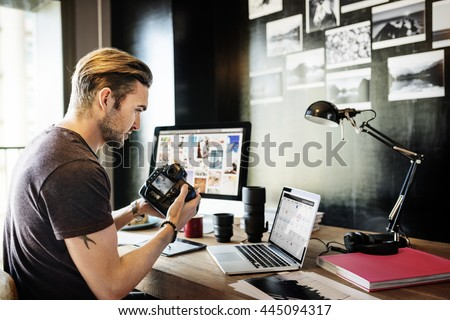 Photographer Photograph Photo Photography Concept Royalty-Free Stock Photo #445094317