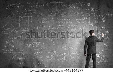 Teacher at the blackboard #445164379