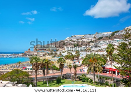 View of Puerto Rico. Canary islands, Gran Canaria. Spain #445165111
