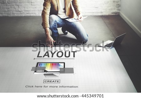 Design Layout Computer Software Interface Concept