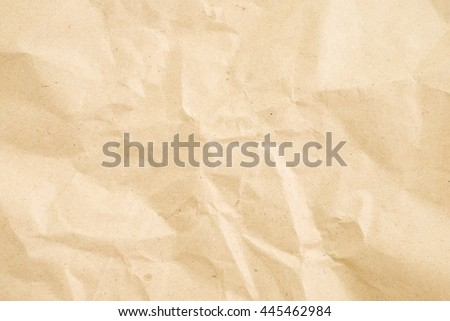 crumpled cream paper background texture Royalty-Free Stock Photo #445462984