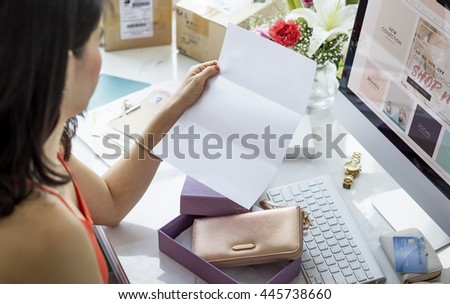 Mock up Copy Space Computer Tablet Concept #445738660