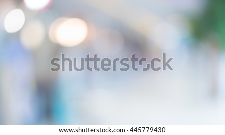 Blurred background :Customer shopping at department store with bokeh light. #445779430