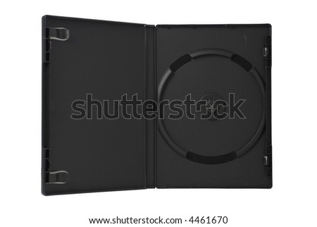 Blank CD/DVD/Blue Ray BOX. Isolated on white background #4461670
