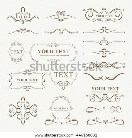 Ornate frames elements #446168032