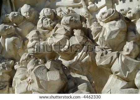Zaragoza (Aragon, Spain) - Sculptures on the church in Plaza del pilar #4462330