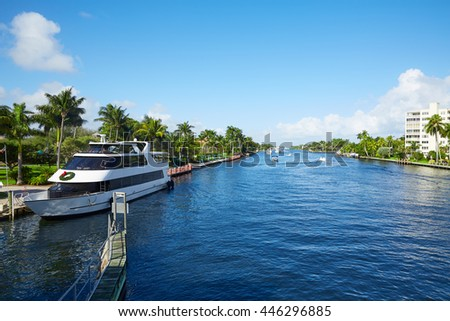 Del Ray Delray beach Gulf Stream in Florida USA #446296885