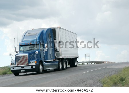 Big truck on the road #4464172