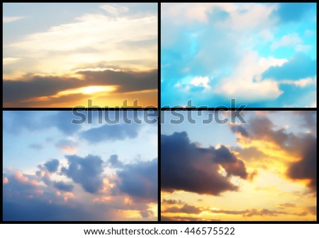 Beautiful sky backgrounds #446575522