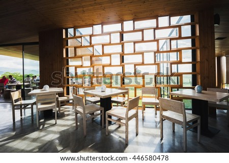 restaurant with sunny day #446580478