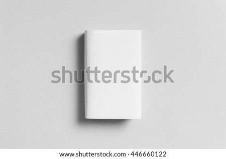 Hardcover Book Mock-Up - Dust Jacket. Front. Royalty-Free Stock Photo #446660122
