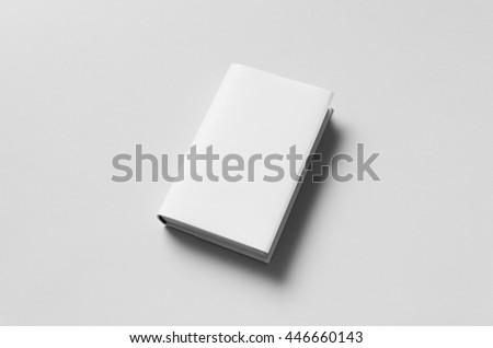 Hardcover Book Mock-Up - Dust Jacket Royalty-Free Stock Photo #446660143