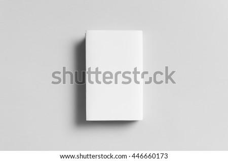 Hardcover Book Mock-Up - Dust Jacket. Backside. Royalty-Free Stock Photo #446660173