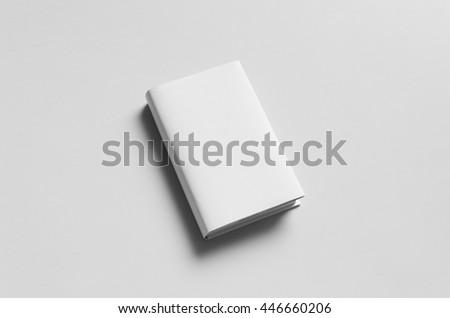 Hardcover Book Mock-Up - Dust Jacket Royalty-Free Stock Photo #446660206