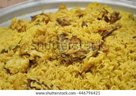 Rice And Chicken #446796421