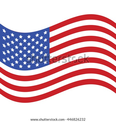 United States flag. USA flag vector #446826232