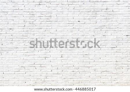White stone wall of old bricks #446885017