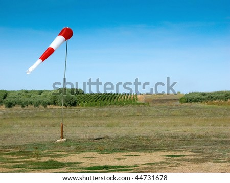 Windsock on a small country small airport #44731678