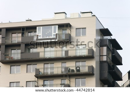 Newly built block of flats #44742814