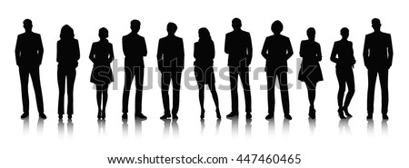Business People Silhouettes Royalty-Free Stock Photo #447460465