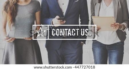 Contact Us Customer Support Inquiry Hotline Concept Royalty-Free Stock Photo #447727018