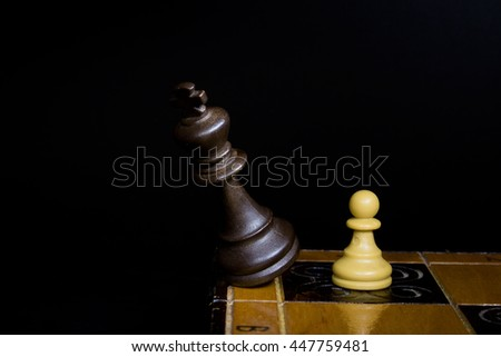 Chess photographed on a chessboard #447759481