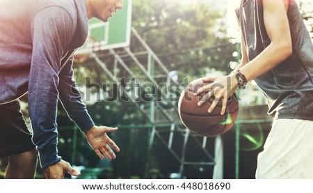 Basketball Player Athlete Exercise Sport Stadium Concept #448018690