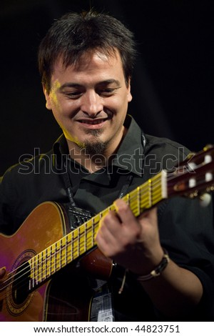 CANARY ISLANDS - NOVEMBER 14: Gitarist from the band Zenet from Andalusia, Spain onstage during the festival Womad November 14, 2009 in Canary Islands, Spain #44823751