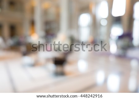 Abstract beautiful luxury blur hotel interior for background #448242916