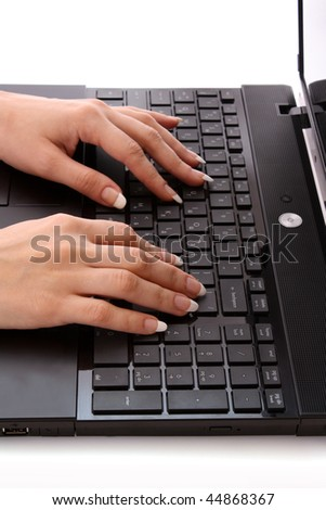 Female working on laptop #44868367