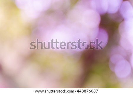 Violet abstract bokeh background from nature environment #448876087