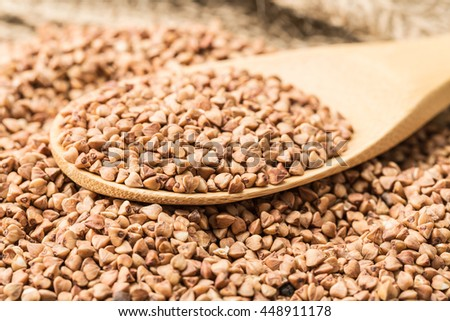Buckwheat groats and household articles #448911178