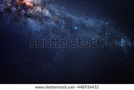 Milky way. Galaxy. Elements furnished by NASA