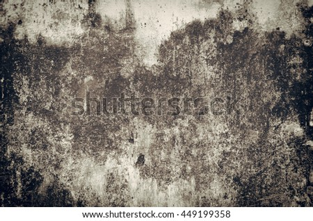 Old Wallpaper, Grey grunge textured wall. #449199358