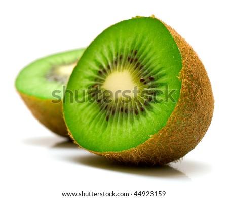 Kiwi fruit on a white background. Isolation on white, shallow DOF #44923159