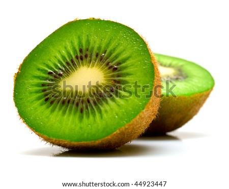 Kiwi fruit on a white background. Isolation on white, shallow DOF #44923447