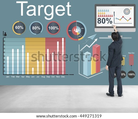 Target Strategy Vision Mission Marketing Concept #449271319