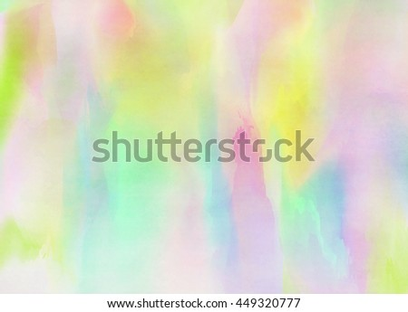 Abstract colorful watercolor for background. Digital art painting. #449320777