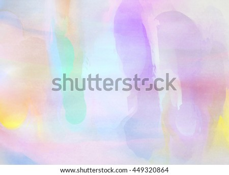 Abstract colorful watercolor for background. Digital art painting. #449320864